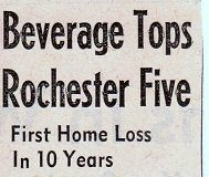 Beverage Tops Rochester Five. 1963.