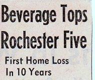 Beverage Tops Rochester Five. 1963.