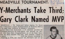 Y-Merchants Take Third; Gary Clark Named MVP. 1965.