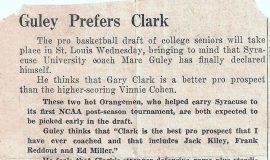 Guley Prefers Clark. 1957.