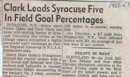 Clark Leads Syracuse Five In Field Goal Percentages. 1957.