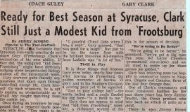 Ready for Best Season at Syracuse, Clark Still Just a Modest Kid from 'Frootsburg'.