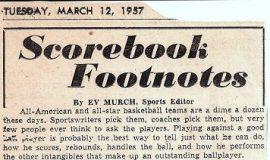 Scrapbook Footnotes. March 12, 1957.