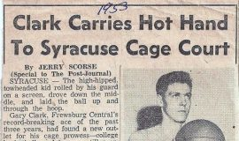 Clark Carries Hot Hand To Syracuse Cage Court. 1953.