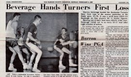 Beverage Hands Turners First Loss. February 1, 1963.