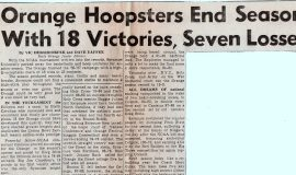 Orange Hoopster End Season With 18 Victories, Seven Losses.  1957.