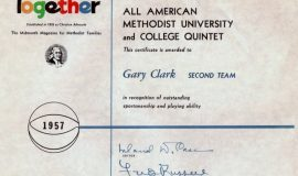 Methodist All-American, 1957.