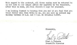 Correspondence from New York Knicks. Page 2. May 17, 1957.