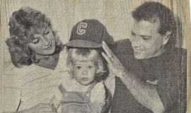 George Barone, his wife Vickie and daughter Brooke. 1984.