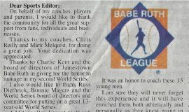 Dear Sports Editor. 2005.