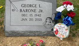 George Barone's grave marker.