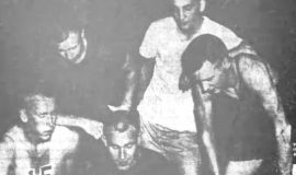Three Lettermen Great Bataitis As JCC Basketball Teams Drill. November 7, 1961.