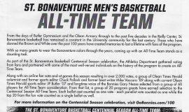 St. Bonaventure University Men's Basketball All-Time Team