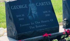George Carter's grave marker at St. Bonaventure in Allegany, NY.