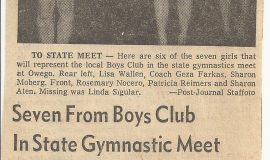 Seven From Boys Club In State Gymnastic Meet. January 17, 1968.