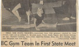 BC Gym Team In First State Meet. November 1, 1965.