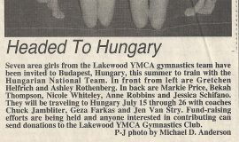 Headed To Hungary. February 25, 1997.