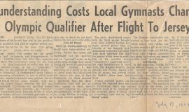 Misunderstanding Costs Local Gymnasts Chance In Olympic Qualifier After Flight To Jersey. July 17, 1968.7-17-68(2)