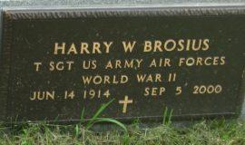 Harry Brosius' grave marker.