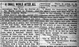 A Small World After All. September 13, 1918.