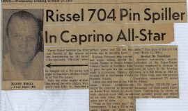 Rissel 704 Pin Spiller In Caprino All-Star. 1965