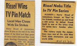 Rissel Wins TV Pin Match. 1962