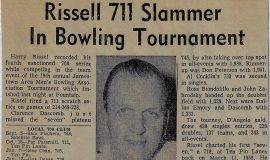 Rissel 711 Slammer In Bowling Tournament. 1969