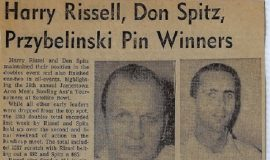Harry Rissel, Don Spitz, Przybelinski Pin Winners. 1968