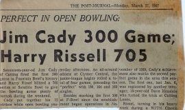 Jim Cady 300 Game; Harry Rissel 705. 1967