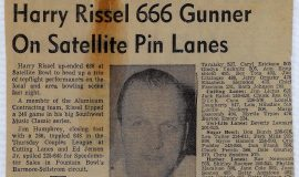 Harry Rissel 666 Gunner On Satellite Pin Lanes. 1970