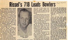 Rissel's 718 Leads Bowlers. 1973
