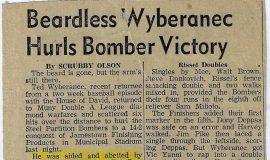Beardless Wyberanec Hurls Bomber Victory.