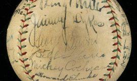 Ehmke signature on baseball.