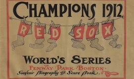 1912 World Series program