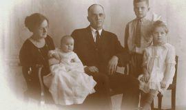 Hugh Bedient family Emogene, Eleanor, Hugh, Palmer, Fanchon