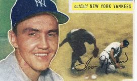 1956 trading card (front).