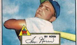 Irv Noren trading card, 1952.