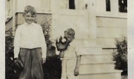 Brother Everett with Irv Noren (age 5), 1929.