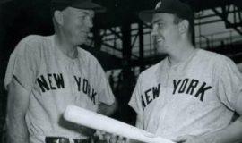 Bill Dickey, Yankees coach, with Irv Noren, circa 1952-1956.