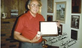 Irv Noren with his CSHOF induction certificate and ring, 1985.