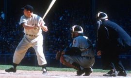Irv Noren batting.
