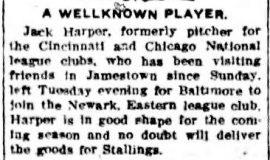 A Wellknown Player. April 25, 1908.