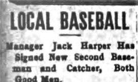 Local Baseball. April 4, 1911.