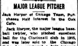 Major League Pitcher. May 20, 1909.