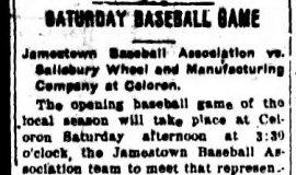 Saturday Baseball Game. May 6, 1909.