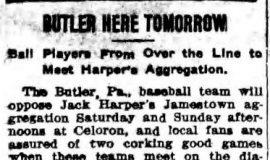 Butler Here Tomorrow. June 2, 1911.