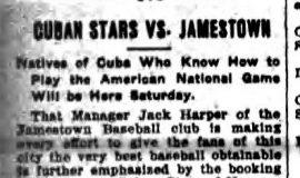 Cuban Stars Vs. Jamestown. June 21, 1911.