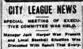 City League News. June 8, 1911.