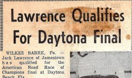Lawrence Qualifies For Daytona Final. October 1969.