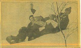 Enjoying Tobaganing on New Winter Sports Site.